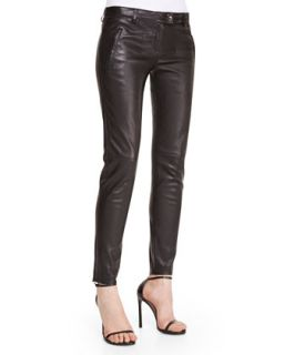 Womens Skinny Leather Pants, Black   Escada   Black (42)