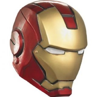 Disguise Avengers Iron Man Adult Helmet, Gold/Red, One Size Costume: Clothing