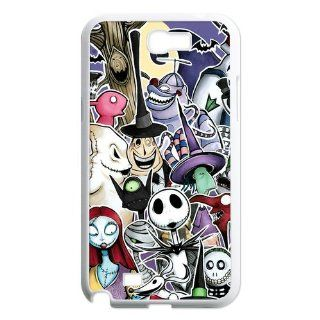 Custom Personalized Disney The Nightmare Before Christmas Series Jack Skellington 3D Skull Smooth Durable Plastic Samsung Galaxy Note 2 N7100 Case: Cell Phones & Accessories