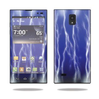 MightySkins Protective Vinyl Skin Decal Cover for LG Spectrum 2 Cell Phone Sticker Skins Lightning Storm Electronics
