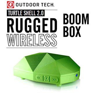 Outdoor Tech OT 1800 Turtle Shell 2.0 Rugged Water Resistant Wireless Bluetooth Hi Fi Speaker (Green)  Boomboxes   Players & Accessories