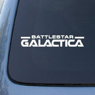 BATTLESTAR GALACTICA LOGO   Vinyl Decal Sticker #A1425  Vinyl Color White Automotive