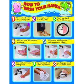 How to Wash Your Hands Chart: Carson Dellosa Publishing: 9781594414336: Books