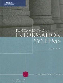 CoursePort Electronic Key Code for Fundamentals of Information Systems, Third Edition Student Online Companion Web site Ralph Stair, George Reynolds 9780619215606 Books
