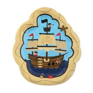 It's A Boy Mates! Pirate   Baby Shower Dessert Plates   8 ct: Toys & Games