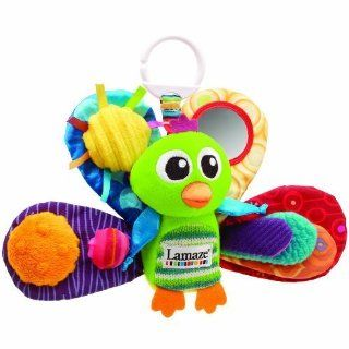Plush Toy Keeps Babies Entertained   Lamaze Play & Grow Jacques the Peacock Take Along Toy : Car Seat Toys : Baby