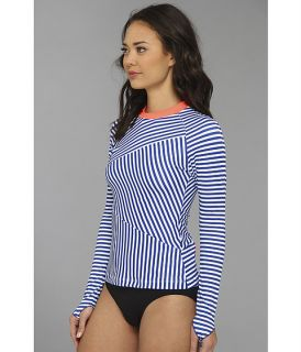 Basta Bells Rash Guard Blue Stripe/Aussie Coral