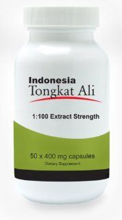 Natural Testosterone Booster   Indonesia Tongkat Ali Extract (1:100 extract strength)   50 capsules   [also known as Longjack or Eurycoma Longifolia Jack]: Health & Personal Care