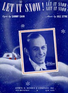 Sammy Cahn's Let It Snow! Let It Snow! Let It Snow! Vintage 1945 Sheet Music Featured by Griff Williams and His Orchestra : Prints : Everything Else