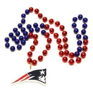 New England Patriots Mardi Gras Party Beads Necklace  Sports Fan Necklaces  Sports & Outdoors