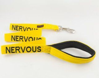 """NERVOUS"" Yellow Color Coded 4 Foot Dog Leash (Give Me Space) PREVENTS Accidents By Warning Others of Your Dog in Advance! : Pet Leashes : Pet Supplies"
