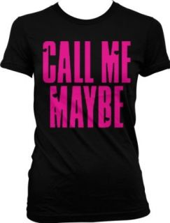 Call Me Maybe Juniors T shirt, Neon Pink Hot Trendy Lyrics Junior's Tee Shirt Clothing