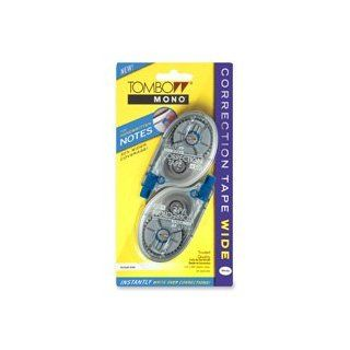 """Tombow Products   Correction Tape, Wide Width, 1/4""""x394"""", 2/PK, White   Sold as 1 PK   Wide single line correction tape is ideal for covering handwritten notes and larger areas of copy with 50 percent wider tape than standard single line correcti"""