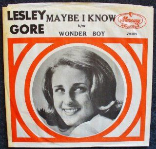 Maybe I Know / Wonder Boy; PICTURE SLEEVE ONLY / NO RECORD: Music