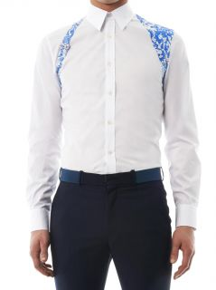 Lace print harness cotton shirt  Alexander McQueen  MATCHESF