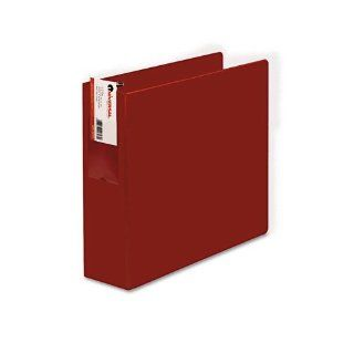 D Ring Binder, 3'' Capacity, 8 1/2 x 11, Red Electronics
