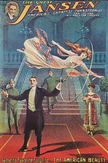 THE GREAT JANSEN MAGICIAN MAGIC THE AMERICAN BEAUTY GIRL VINTAGE POSTER CANVAS REPRO   Prints