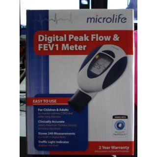 Microlife PF 100 Peak Flow Meter for Spirometry with FEV1 Health & Personal Care
