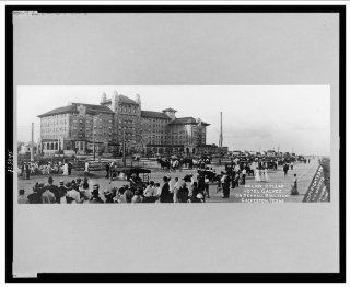 Historic Print (L): Million dollar Hotel Galvez on Seawall Boulevard, Galveston, Texas