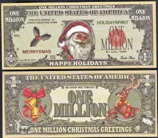 "Santa Claus ""Happy Holiday"" Novelty $Million Dollar Bill Collectible: Everything Else"