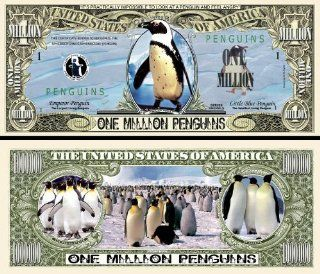 Penguin 1 Million Penguins Novelty $Million$ Dollar Bill Collectible Toys & Games