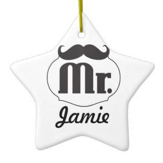 Mustache Mr. Hipster Vintage Retro Ornament