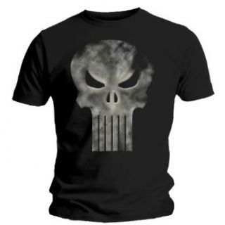 Loud Distribution   The Punisher   Skull Logo T Shirt noir (S): Clothing