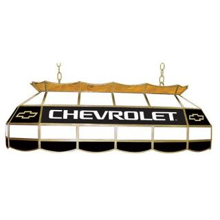 Chevy Bow Tie Stained Glass Tiffany Pool Table Light   40W in.   GM4000CH   Pool Table Lights