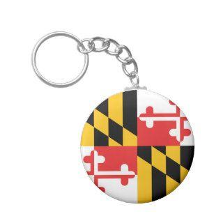 Maryland Flag Key Chain