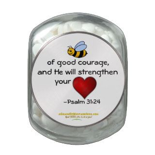 Christian Quotes Inspirational Jelly Belly Candy Jars