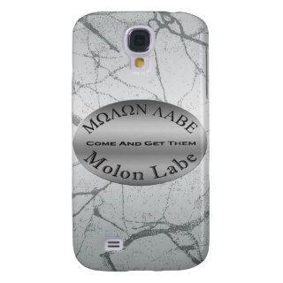 Molon Labe 2nd Amendment Gun Rights Slogan Silver Samsung Galaxy S4 Cases
