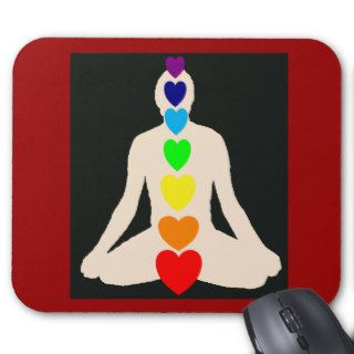 Chakra Yoga Lotus Position Gifts Mouse Pad