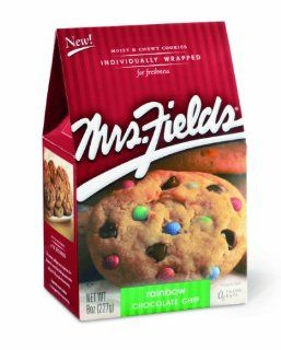Mrs. Fields Cookies, Rainbow Chocolate Chip, 8 Ounce Boxes (Pack of 6) : Ms Fields Rainbow Cookie : Grocery & Gourmet Food