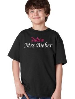 THE FUTURE MRS. BIEBER Youth T shirt / Funny Cute Fan Girl Love Tee Shirt Clothing