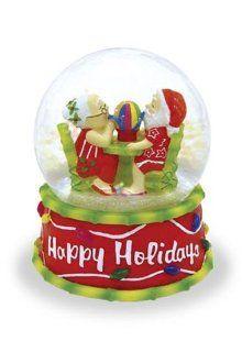 Santa and Mrs. Claus Sharing Shave Ice Illuminating Glitter Snow Globe   Hawaiian Snow Globe