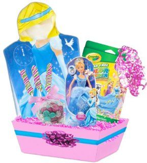Disney Princess Deluxe Gift Basket Featuring Cinderella Towel and Much More Ages 3 7  Baby Gift Baskets  Baby