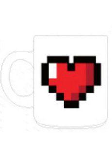 8 BIT HEART COFFEE MUG Kitchen & Dining
