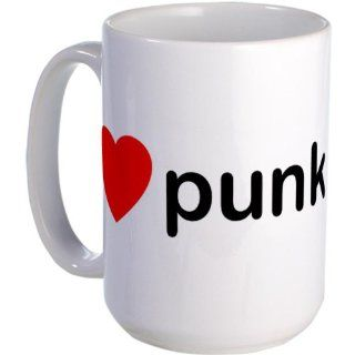 I Heart Punk Large Mug Large Mug   Standard Kitchen & Dining