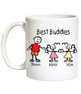 Personalized Family Cartoon Character Mug Kitchen & Dining