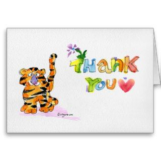 Cartoon Tiger Thank You Card