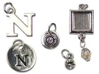 Cousin Jewelry Basics 5 Piece Metal Alpha Charm, N