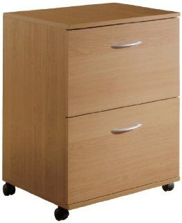 Nexera 5093 2 Drawer Mobile File Cabinet, Natural Maple Finish   Lateral File Cabinet Letter Legal