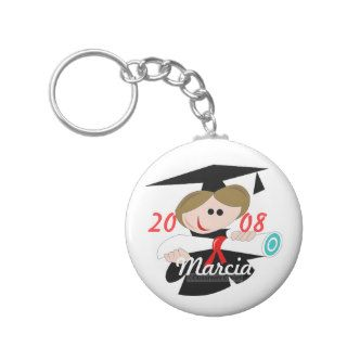 Personalize Name Graduation 2008 Key Chain