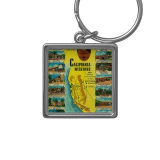 Spanish Missions of California showing Key Chain