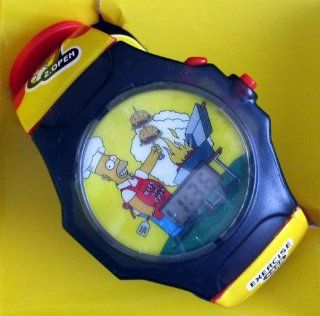"""The Simpsons   HOMER """"MmmBurger"""" Talking LCD Watch   2002 Burger King Promo Watches"""