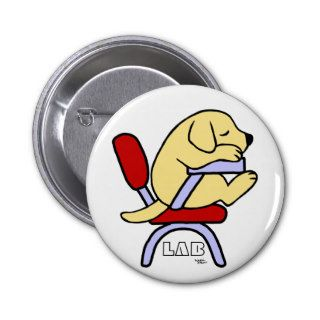Yellow Labrador Student 2 Cartoon Pins