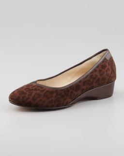 Felicity Leopard Print Low Wedge   Taryn Rose   Brown (leopard) (39.0B/9.0B)