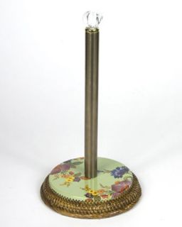 Green Flower Market Paper Towel Holder   MacKenzie Childs