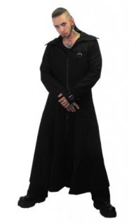 Necessary Evil Marduk Mens Hooded Trenchcoat at  Men�s Clothing store: Hooded Coat Men