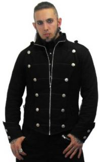 Necessary Evil Odin Mens Black Military Jacket at  Men�s Clothing store
